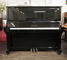A 1994, Yamaha WX7S Upright Piano For Sale with a Black Case and Brass Fittings