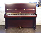 Piano for sale. Brand New, Feurich Model 122 Upright Piano For Sale with a Satin, Mahogany Case and Brass Fittings
