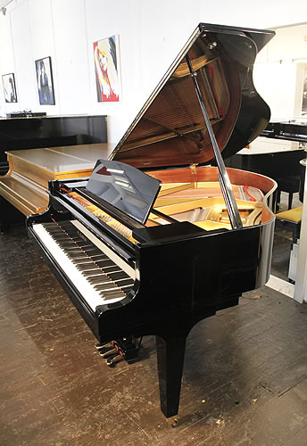 Kawai KF-1 baby grand Piano for sale with a black case and polyester finish.