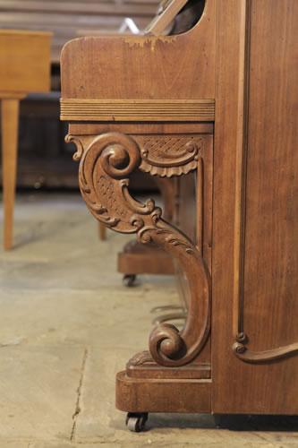 Lamberger & Gloss carved, scroll foot piano leg