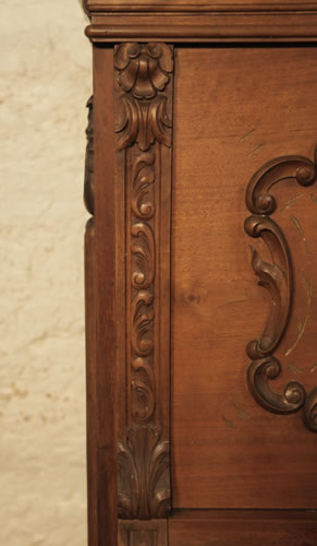Lamberger & Gloss carved cabinet detail