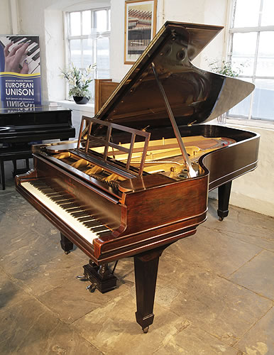 An 1883, Steinway Model C Grand Piano with a Rosewood Case, Openwork Music Desk and Spade Legs