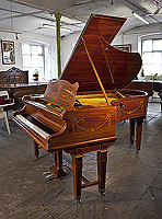 Adams style, Bechstein Model V grand piano for sale with a rosewood case and gate legs