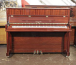 Piano for sale. A brand new, Besbrode SU112 upright piano with a mahogany case and polyester finish