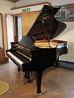 A 2000, Boston GP178 PE grand piano for sale with a black case and spade legs