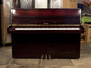 Piano for sale. A Horugel SU108 Upright Piano For Sale with a Mahogany Case and Brass Fittings