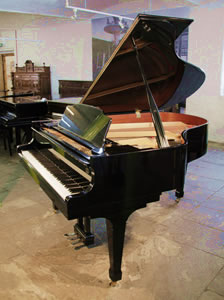 A 1987, Kawai CA-40M grand piano for sale with a black case and spade legs. A 60th Anniversary Limited Edition model