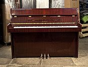 Piano for sale. A 1985, Kawai CE-7N Upright Piano For Sale with a Mahogany Case and Brass Fittings