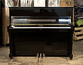 Piano for sale.  Ottostein Upright Piano For Sale with a Black Case and Brass Fittings