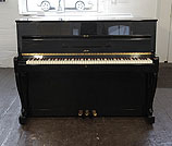 Piano for sale. A Sauter S110 Upright Piano For Sale with a Black Case and Cabriole Legs