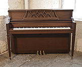 Piano for sale. A Sojin DA-31 Upright Piano For Sale with a Mahogany Case and Brass Fittings