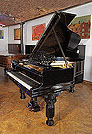 Piano for sale. An 1884, Steinway Model A Grand piano for sale with a black case, filigree music desk and fluted, barrel legs