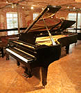 Piano for sale. A 1955, Steinway & Sons Model D concert grand piano with a black case and spade legs