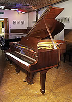 A 1979, Steinway Model O grand piano for sale with a mahogany case and spade legs.
