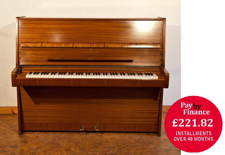 A 1975,   Steinway Model V Upright Piano For Sale with a   Mahogany Case.