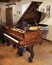 Piano for sale. A rebuilt, 1877, Steinway Style 1 grand piano for sale with a rosewood case and carved Rococo style, cabriole legs