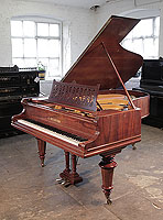Restored, 1895, Bechstein Model VA grand piano for sale with a rosewood case, filigree music desk in a stylised floral design and turned legs