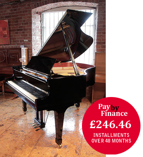 A 1998, Boston GP163 II grand piano for sale with a black case and polyester finish.