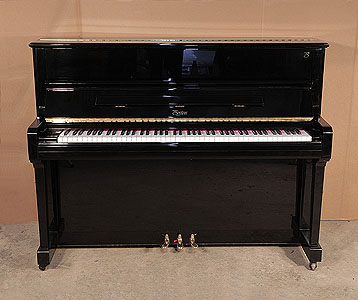 A 2004, Boston UP-118 Upright Piano For Sale with a Black Case and Brass Fittings   Price includes:     First tuning free | Free  piano stool | Free delivery to a ground floor residence within mainland UK