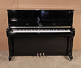 Piano for sale. A 2004, Boston UP-118 Upright Piano For Sale with a Black Case and Brass Fittings