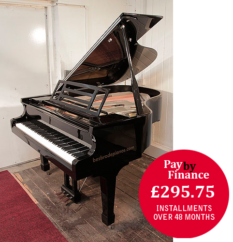 Feurich Model 178 grand Piano for sale with a black case.