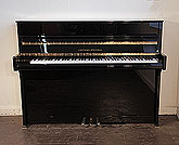 Piano for sale. A 2015, Grotrian Steinweg 'Cristal' Upright Piano For Sale with a Black Case and Brass Fittings