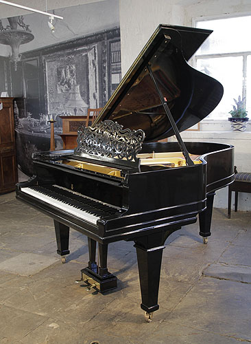 Antique, 1901, Steinway Model A Grand piano for sale with a black case  and spade legs