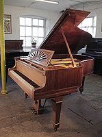 Unrestored, 1915 Steinway Model A grand piano for sale with a rosewood case, cut-out music desk in a sunset design and spade legs. Piano has an eighty-eight note keyboard and a three-pedal lyre