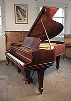 A 1911, Steinway Model O grand piano for sale with a rosewood case and spade legs. Piano has an eighty-eight note keyboard and a two-pedal lyre.