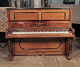 Piano for sale. Antique, 1901, Steinway upright piano for sale with a rosewood case and turned fluted legs