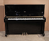 Piano for sale. A 1986, Yamaha U1A upright piano with a black case and polyester finish
