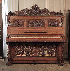 Renaissance style, Biese Hof upright Piano for sale.