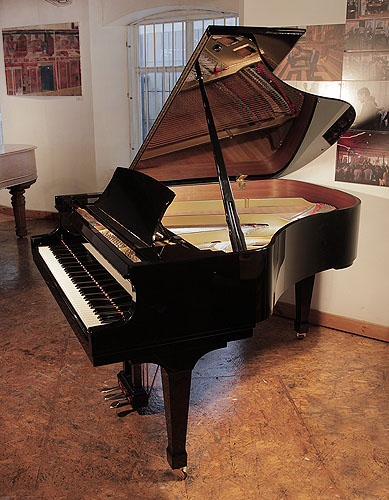 A 2001, Boston GP178 II grand piano for sale with a black case and polyester finish.