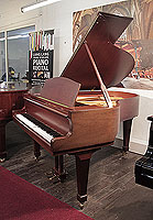 A 1983, W. Hoffmann Model 173 grand piano for sale with a mahogany case and spade legs. Piano has an eighty-eight note keyboard and a two-pedal lyre..