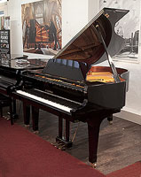 Kawai GX-2 grand piano for sale with a black case and fitted PianoDisc SilentDrive HD system.
