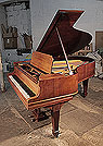 Restored, 1913, Steinway Model O grand piano for sale with a mahogany case and spade legs. Piano has an eighty-eight note keyboard and a two-pedal lyre.