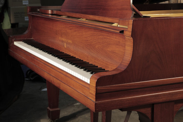 Steinway  model O piano cheek detail. We are looking for Steinway pianos any age or condition.