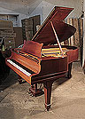 A 1925, Steinway Model O grand piano for sale with a mahogany case and spade legs. Piano has an eighty-eight note keyboard and a two-pedal lyre.