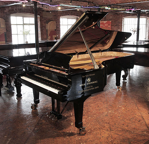 Wilh Steinberg WS-D275 concert grand Piano for sale with a black case.