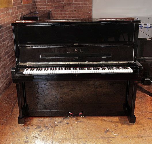 Reconditioned Steinway  Model V upright piano for sale with a black case