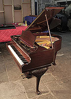 Bechstein baby grand piano for sale with a polished, mahogany case and cabriole legs