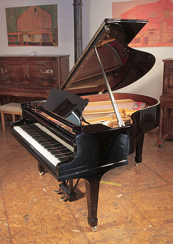 Steinway model M grand piano for sale.