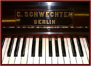 Schwechten  upright Piano for sale.