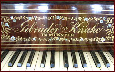 Antique Gebruder Knake Grand Piano With An Rosewood Case