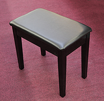 Besbrode Pianos Free Piano Stool.  Six buttons on cushion.