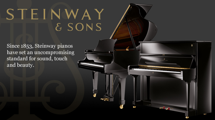 The Steinway Range of Pianos. Designed by Steinway And Sons.