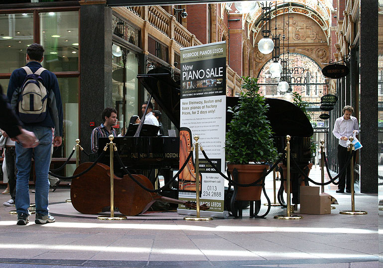 Kevin James playing at the Victoria Quarter Leeds