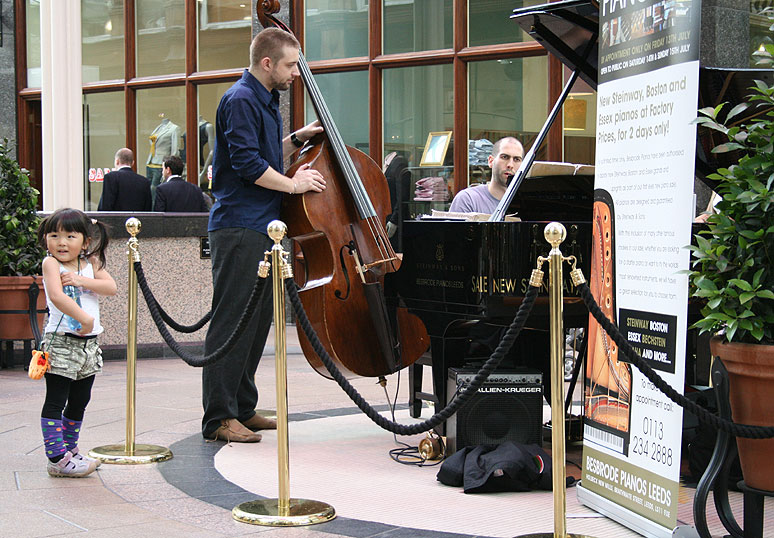 Matthew Bourne and John Tomlinson playing at the Victoria Quarter Leeds
