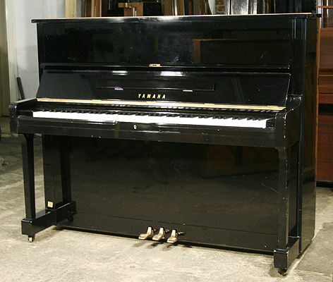 yamaha u1 upright piano for sale with a black case a
