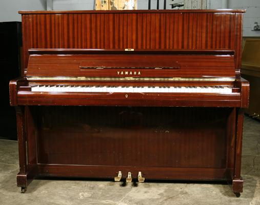 yamaha u1 upright piano for sale with a mahogany case a cheap 1973 yamaha u1 piano formerly a. Black Bedroom Furniture Sets. Home Design Ideas
